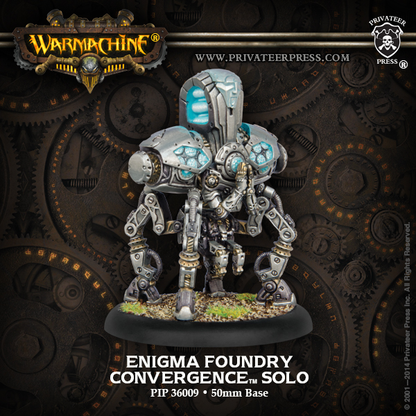 Warmachine: Convergence Of Cyriss Enigma Foundry Character Solo (white Metal) Box Front