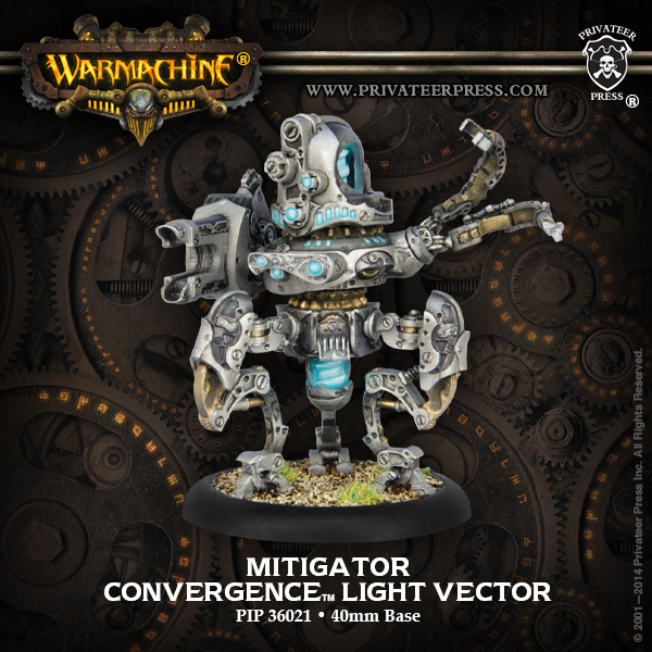 Warmachine: Convergence Of Cyriss Mitigator Light Vector (plastic) Box Front