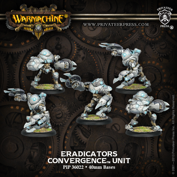 Warmachine: Convergence Of Cyriss Eradicators Unit (plastic) Box Front