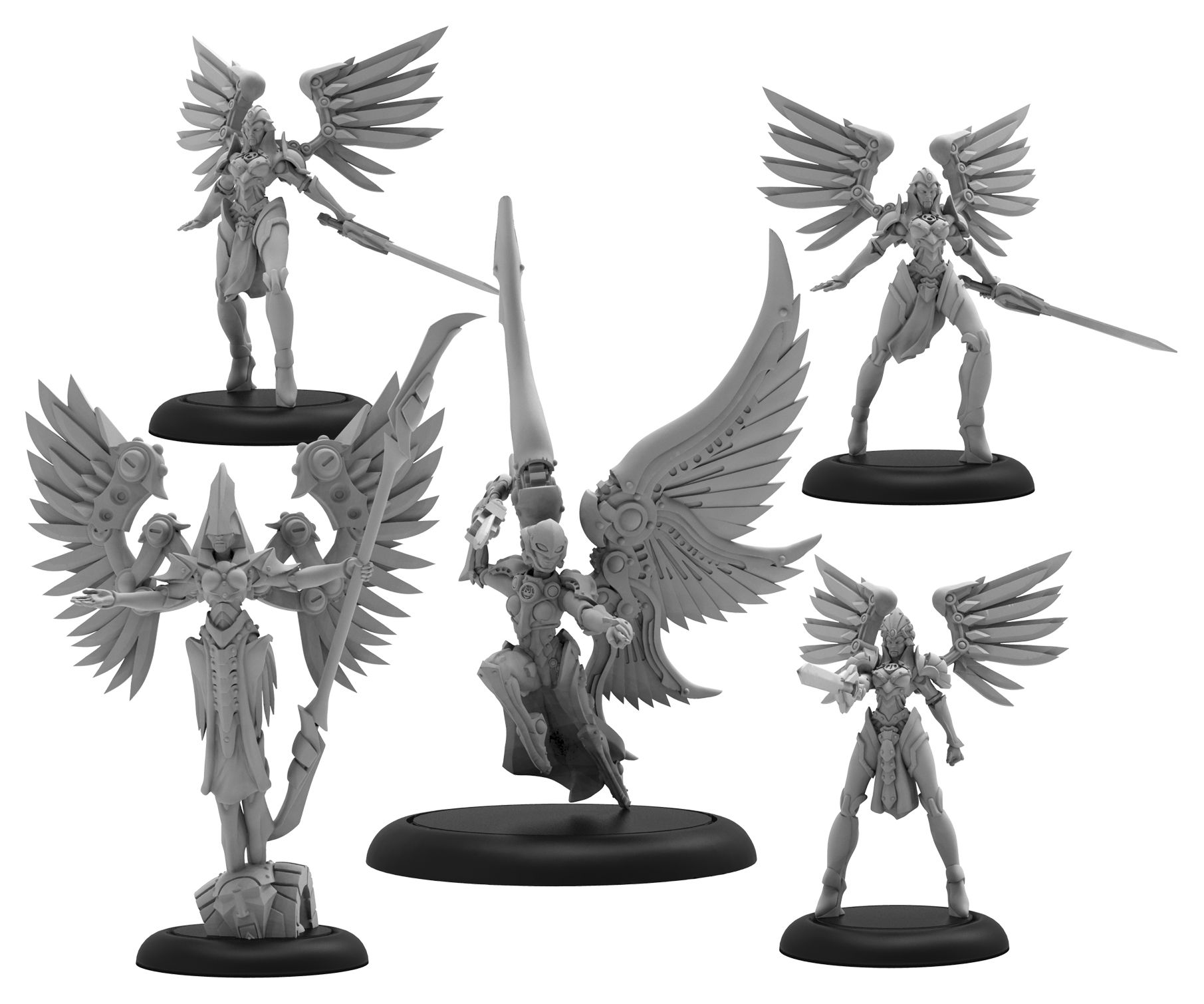 Warmachine: Convergence Of Cyriss Archnumen Aurora Mercenary Warcaster Solo Unit (resin And White Metal)