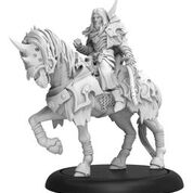 Warmachine: Infernals Valin Hauke, The Fallen Knight Cavalry Solo (resin And White Metal) Game Box
