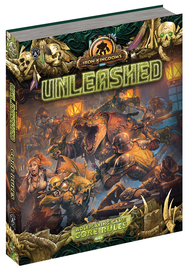 Iron Kingdoms Full Metal Fantasy Rpg: Unleashed - Core Rules (hardcover) Box Front