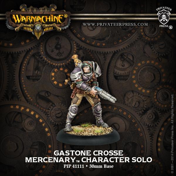 Warmachine: Mercenaries Gastone Crosse Character Solo (white Metal) Box Front