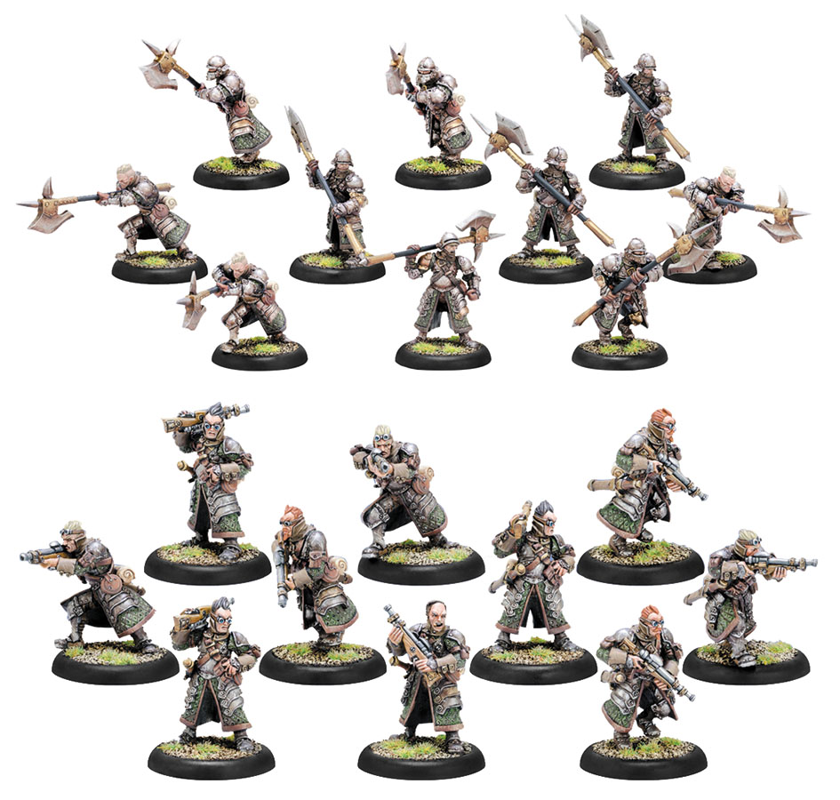 Warmachine: Mercenaries Steelhead Halberdiers/riflemen Unit (10) (plastic) Box Front