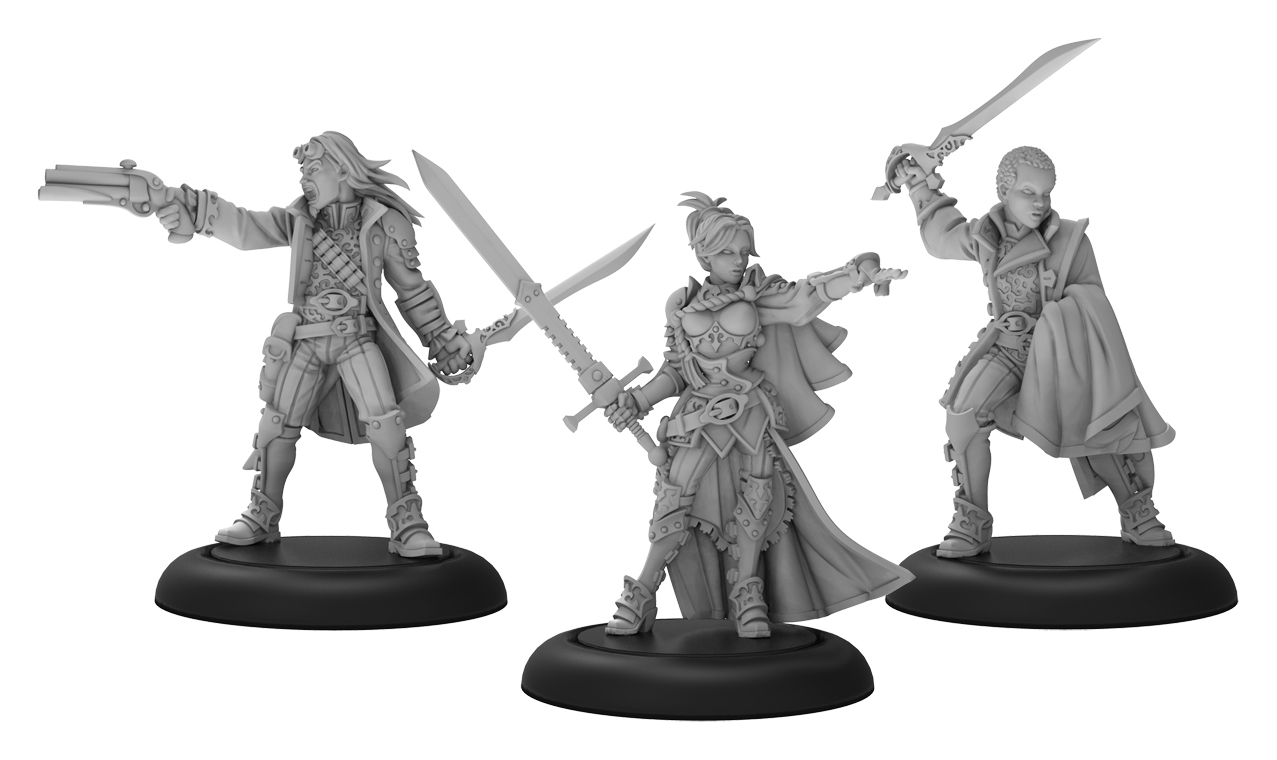 Warmachine: Mercenaries Ashlynn Delyse The Queens Blade Warcaster Unit (white Metal)