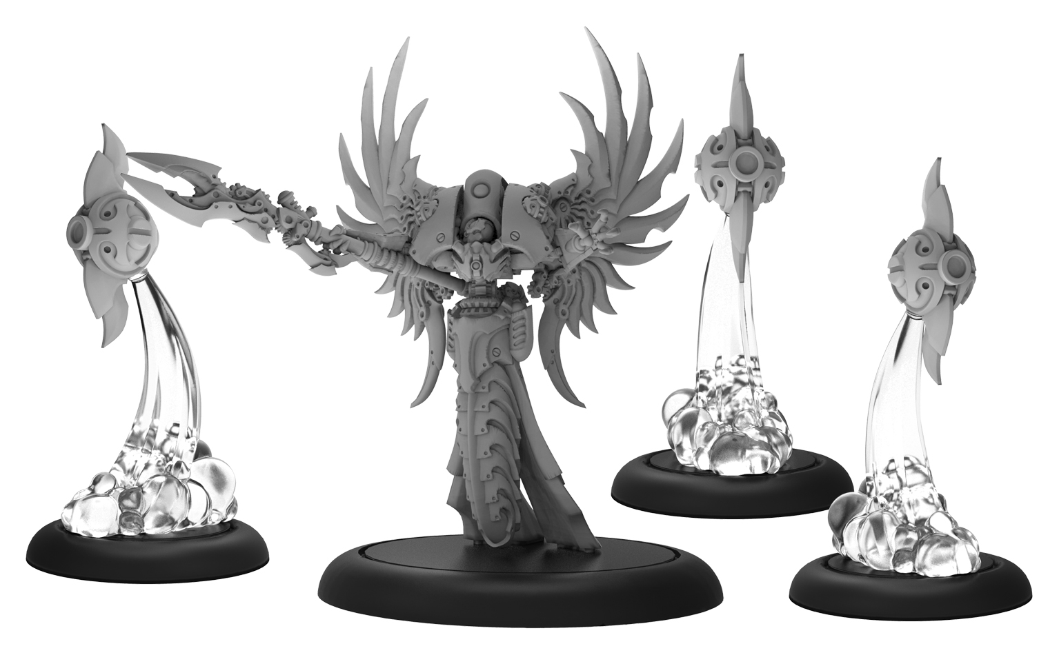 Warmachine: Mercenaries Asphyxious The Sanctified Iron Lich Unit (white Metal)