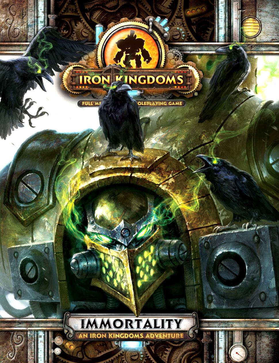 Iron Kingdoms Full Metal Fantasy Rpg: Immortality - An Iron Kingdoms Adventure Box Front