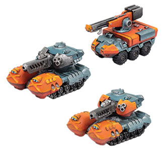 Monsterpocalypse: G.u.a.r.d. G-tanks & Repair Truck Unit (resin) Game Box