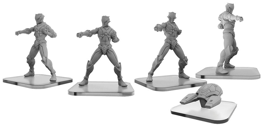 Monsterpocalypse: Shadow Sun Syndicate S-type Shinobi & Interceptor Unit (resin And White Metal) Game Box