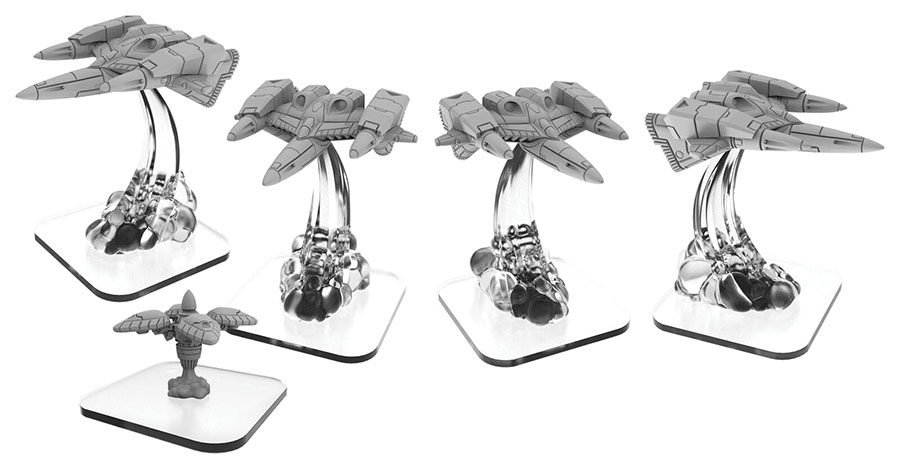 Monsterpocalypse: Shadow Sun Syndicate Sun Fighter & Shadow Gate Unit (resin And White Metal) Game Box