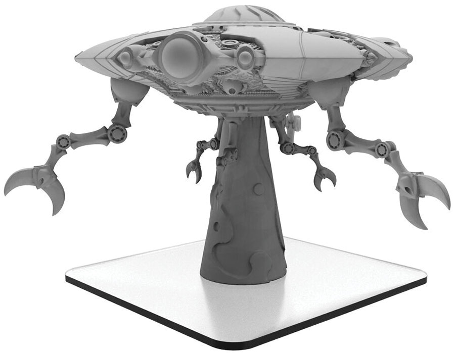 Monsterpocalypse: Martian Menace Ares Mothership Monster (resin And White Metal) Game Box