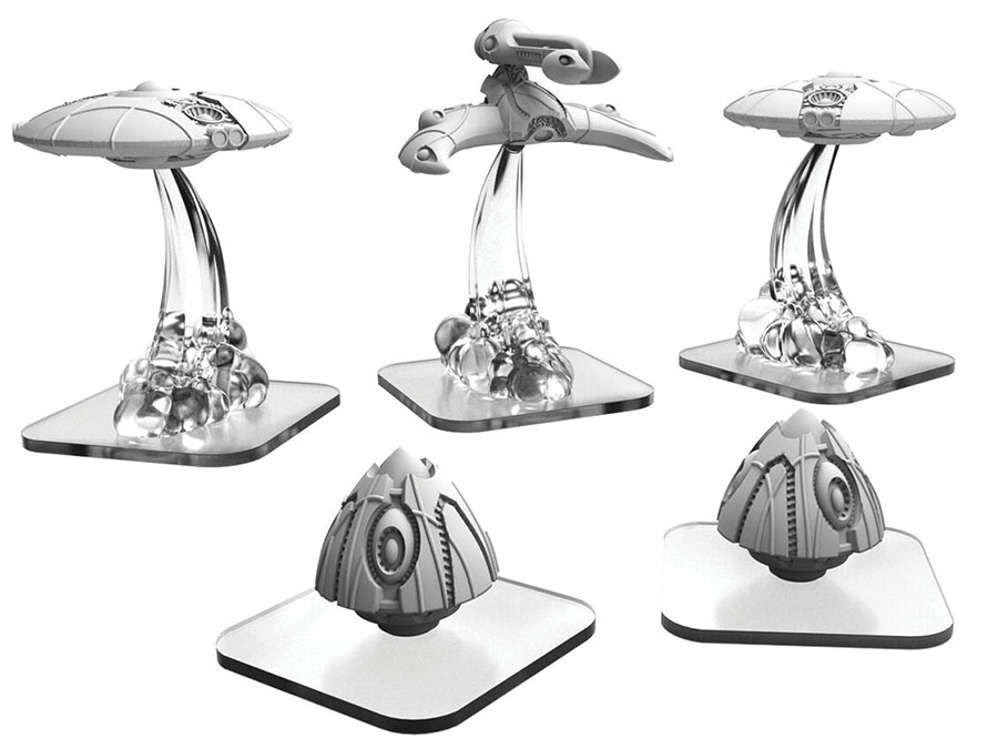 Monsterpocalypse: Martian Menace Saucers, Power Pods & Hunter Units (resin) Game Box