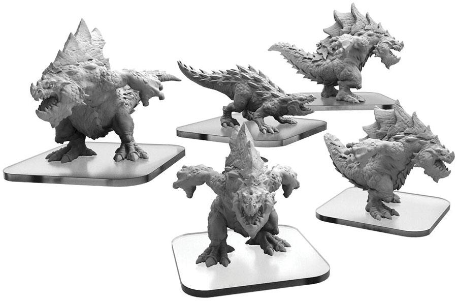 Monsterpocalypse: Terrasaur Carnidon And Spikodon Units (resin And White Metal) Game Box