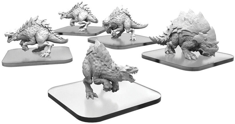 Monsterpocalypse: Terrasaur Raptix And Brontox Units (resin And White Metal) Game Box