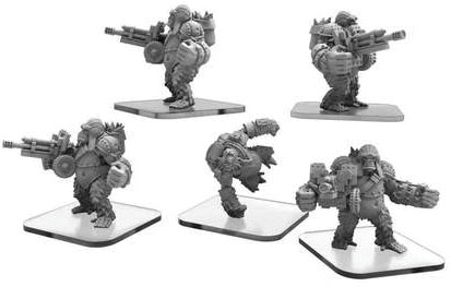 Monsterpocalypse: Empire Of The Apes Ape Gunners & Ape Infiltrator Units (white Metal) Game Box