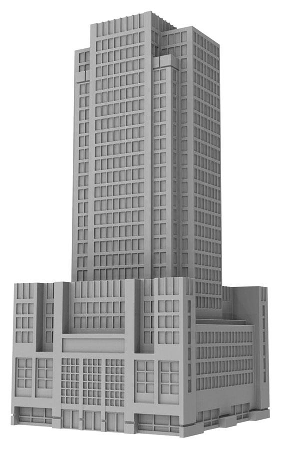 Monsterpocalypse: Skyscraper Building (resin) Game Box