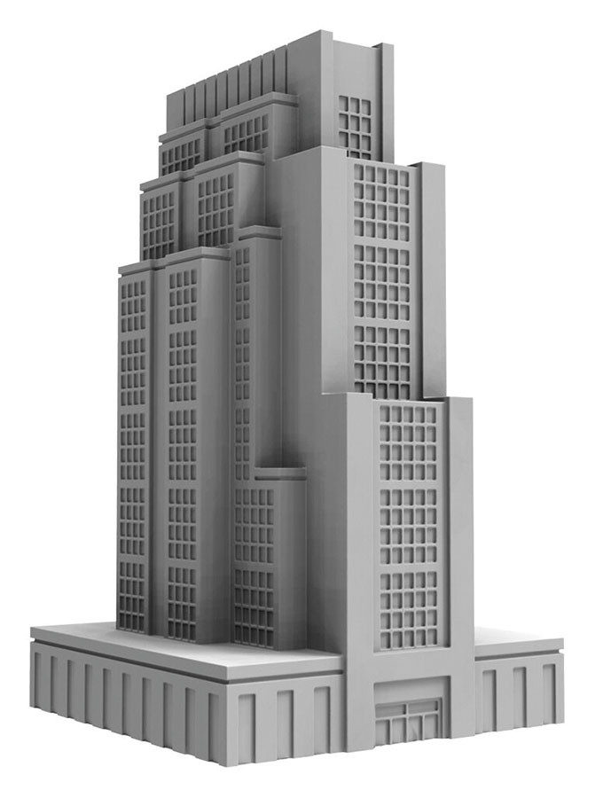 Monsterpocalypse: Downtown High Rise Building (resin) Game Box