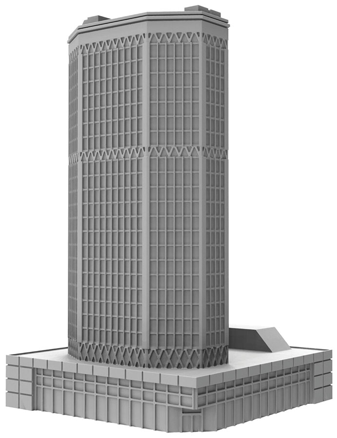 Monsterpocalypse: Corporate Hq Building (resin) Game Box