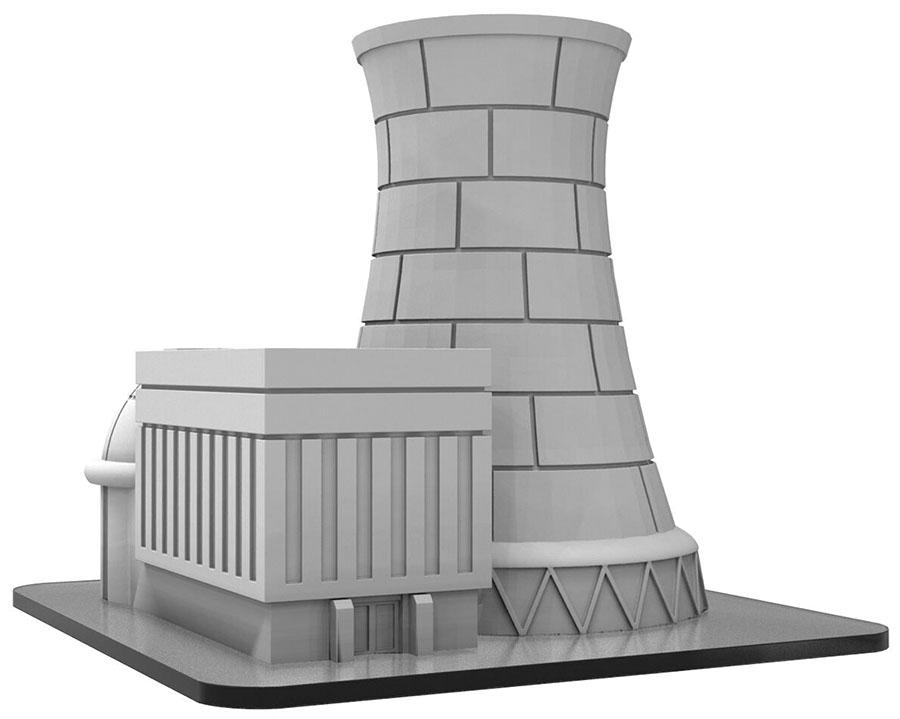 Monsterpocalypse: Power Plant Building (resin) Game Box