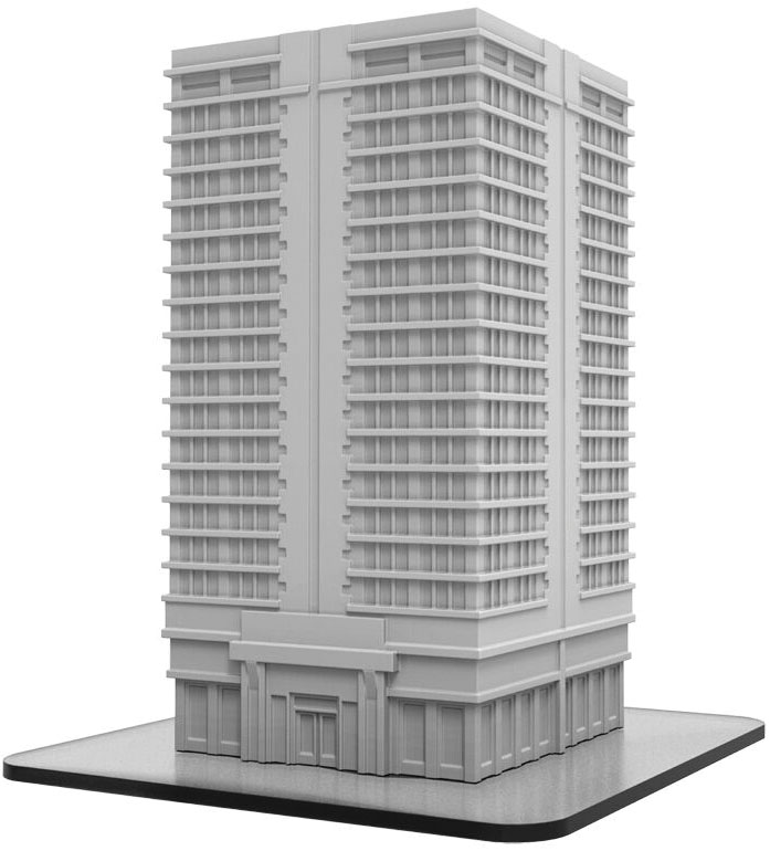 Monsterpocalypse: Apartment Building (resin) Game Box