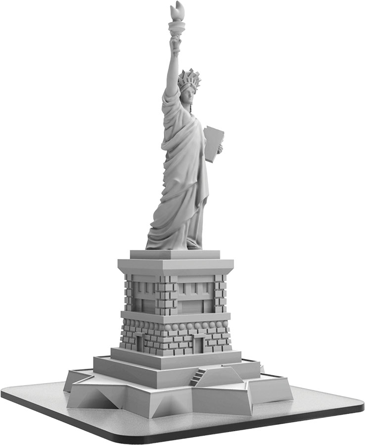 Monsterpocalypse: Statue Of Liberty Building (resin) Game Box