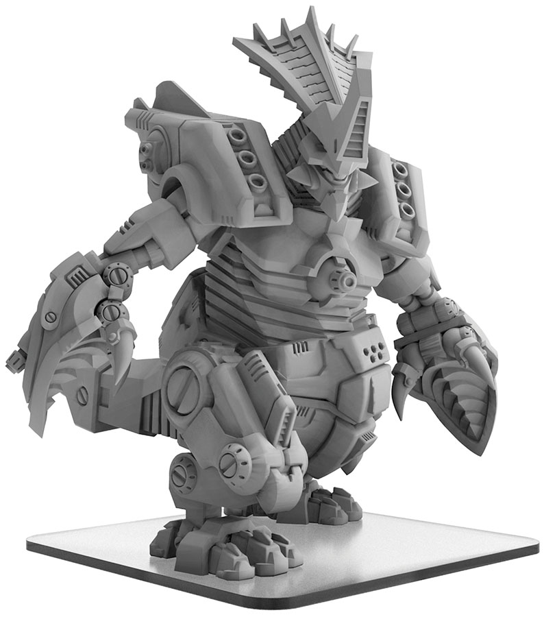 Monsterpocalypse: Uber Corp Gorghadratron Monster (resin And White Metal) Game Box