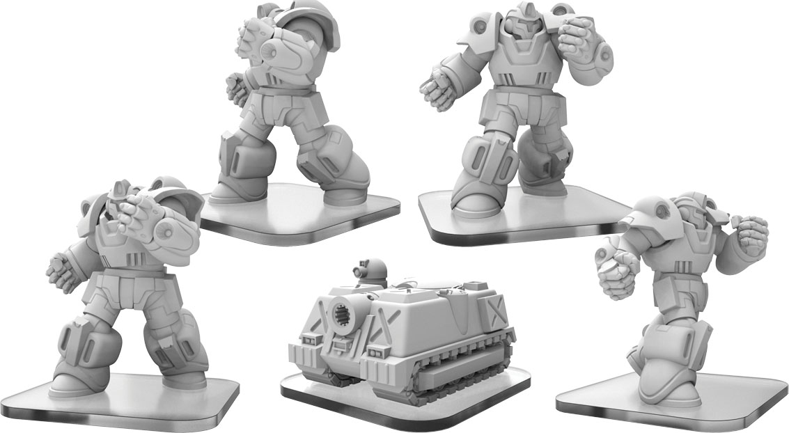 Monsterpocalypse: G.u.a.r.d. Exo-armors & Mr-tank Units (resin And White Metal)  Game Box