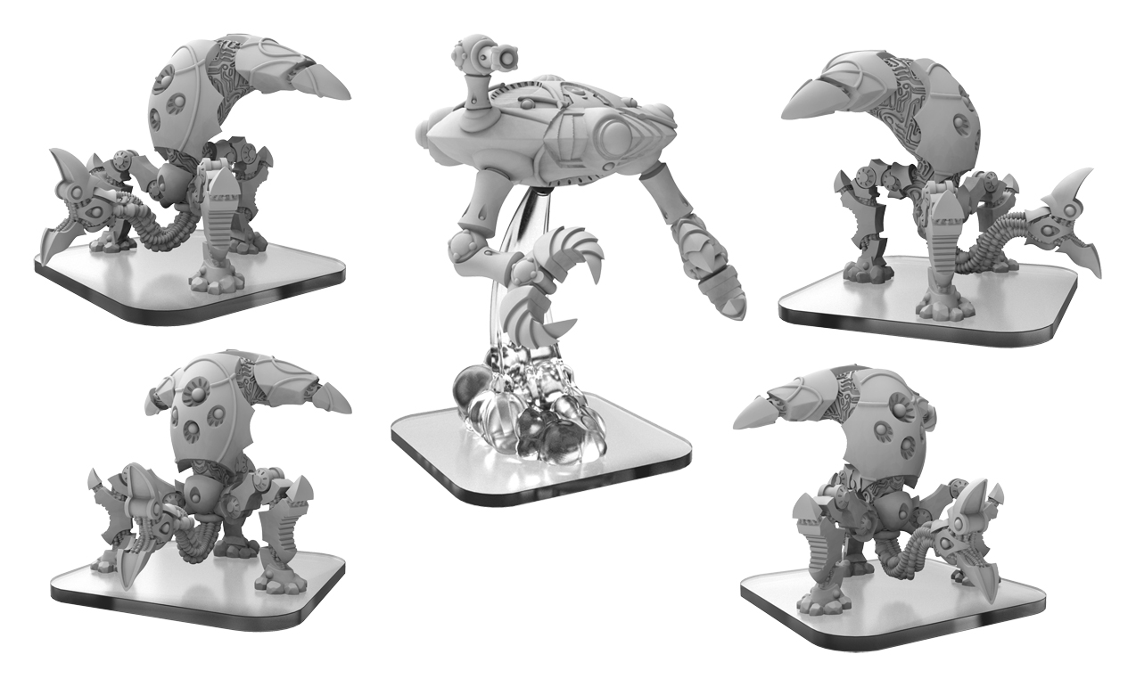 Monsterpocalypse: Martian Menace Reapers & Harvester Units (resin And White Metal)
