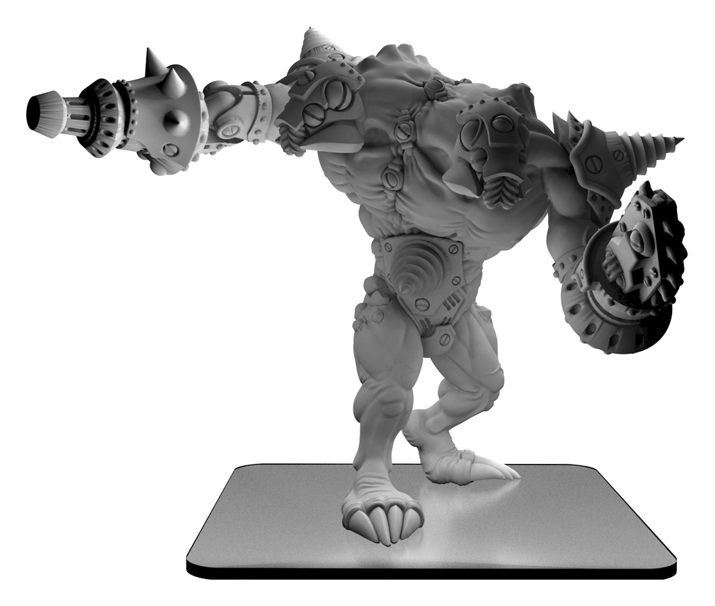 Monsterpocalypse: Uprising Blastikutter Subterran Monster (resin And White Metal)