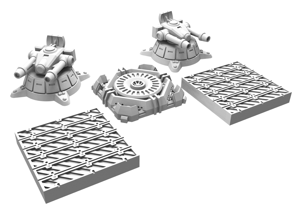 Monsterpocalypse: City Assets 2 (resin And White Metal)