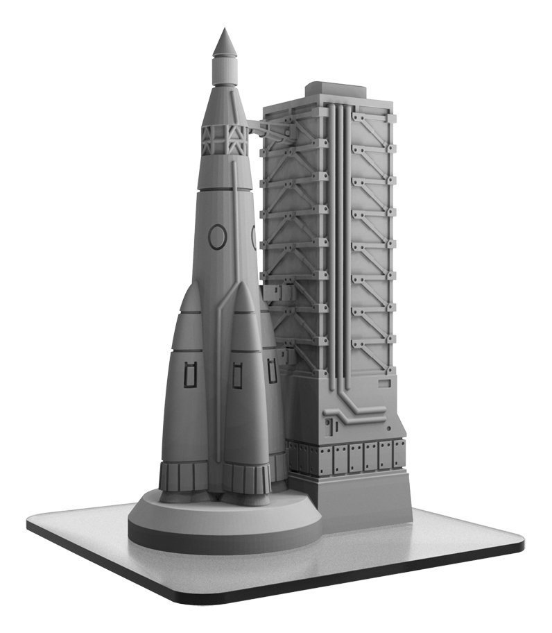 Monsterpocalypse: Building Rocket Gantry (resin)