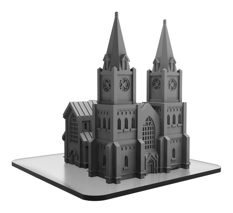 Monsterpocalypse: Building Cathedral (resin)