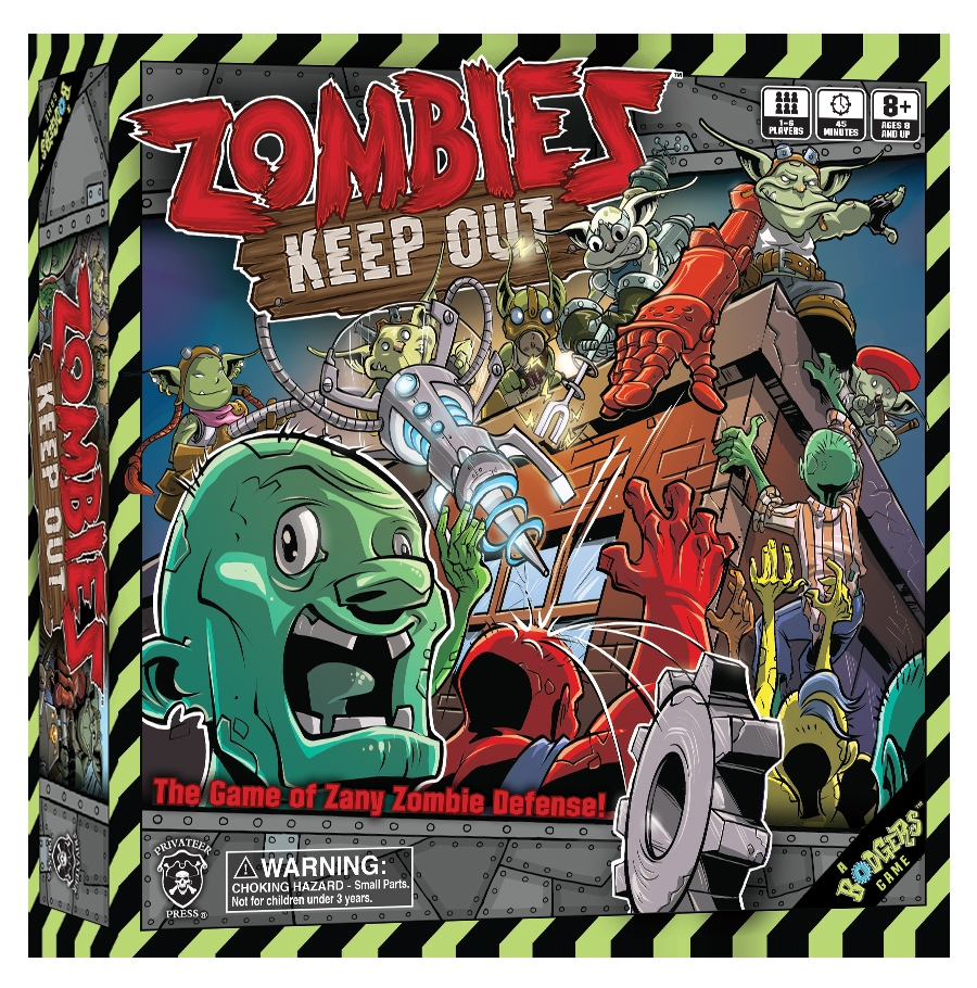Zombies Keep Out Box Front