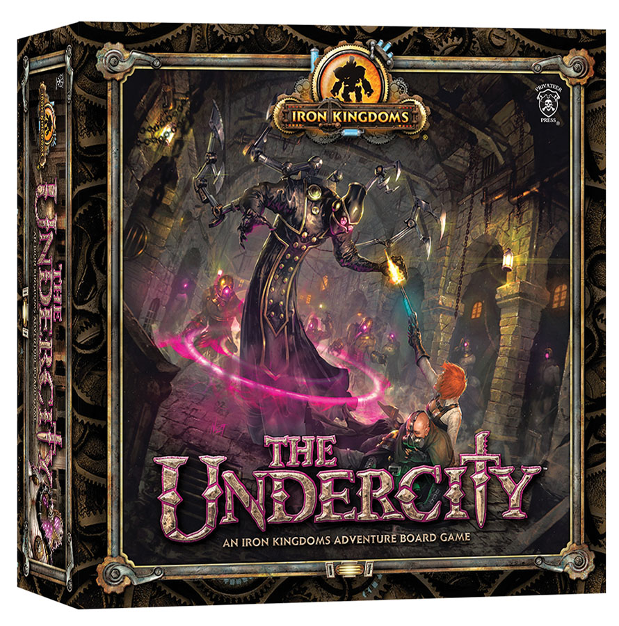 Iron Kingdoms Adventure: The Undercity Board Game Box Front