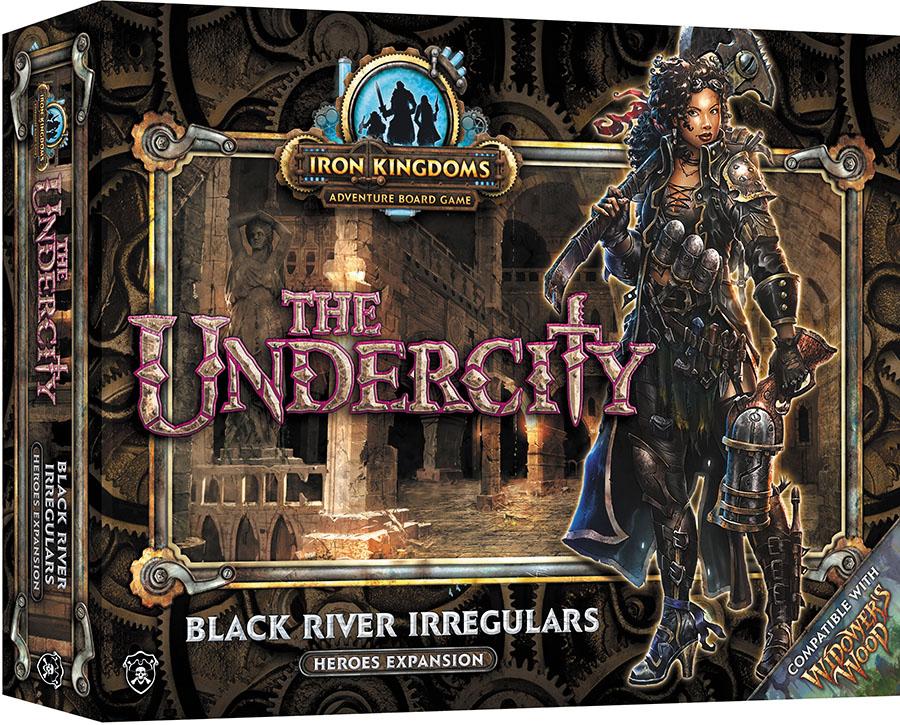 Iron Kingdoms Adventure: Undercity Black River Irregulars Heroes Expansion Box Front