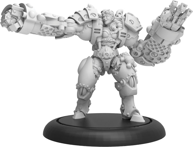 Riot Quest: Boss Machorn Guard (resin And White Metal) Game Box