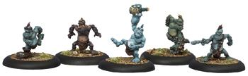 Hordes: Trollblood Troll Whelps Solo (5) (white Metal) Box Front