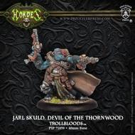 Hordes: Trollblood Jarl Skuld, Devil Of The Thornwood Trollkin Warlock (white Metal) Box Front