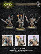 Hordes: Trollblood Sons Of Bragg Trollkin Fell Caller Character Unit (white Metal) Box Front