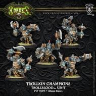Hordes: Trollblood Trollkin Champions Unit (5) (plastic) Box Front
