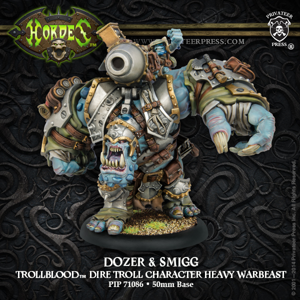 Hordes: Trollblood Dozer & Smigg Heavy Warbeast (resin And White Metal) Box Front