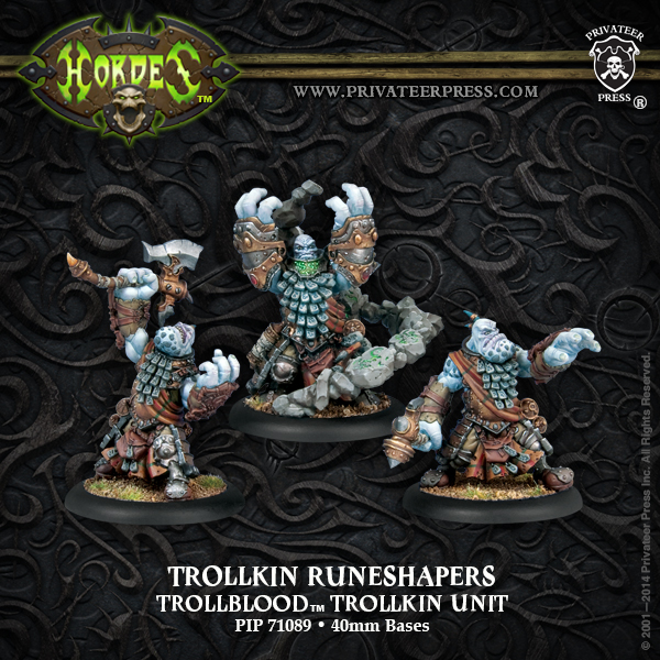 Hordes: Trollblood Trollkin Trollkin Runeshapers Unit (3) (plastic) Box Front