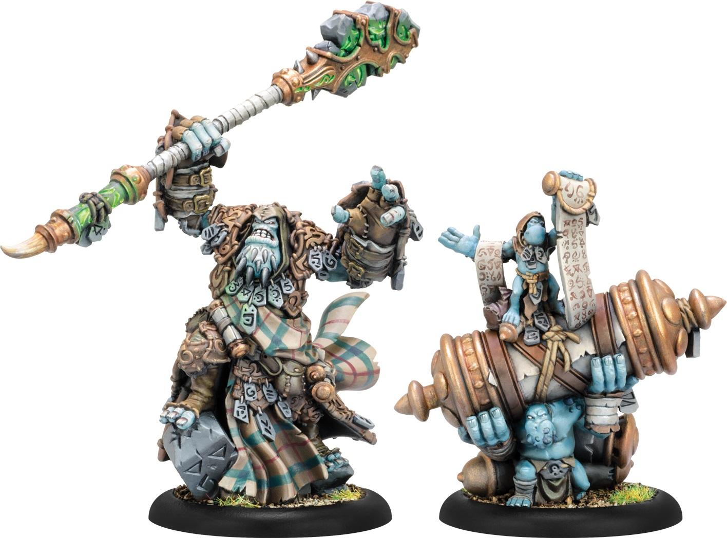 Hordes: Trollblood Hoarluk Doomshaper Dire Prophet Epic Trollkin Warlock Unit (2)(resin And White Metal) Box Front