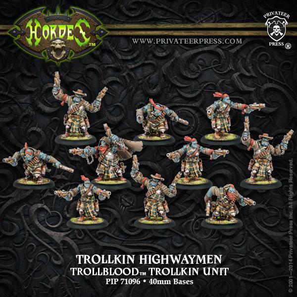 Hordes: Trollblood Trollkin Highwaymen Unit (plastic) Box Front