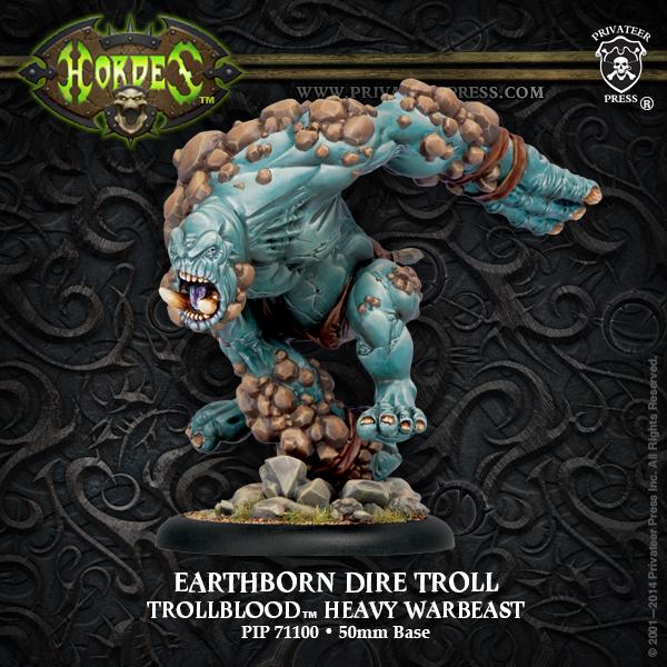 Hordes: Trollblood Earthborn Dire Troll Heavy Warbeast (plastic) Box Front