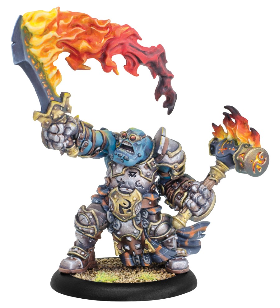 Hordes: Trollblood Horgle The Anvil Warlock (resin And White Metal) Box Front