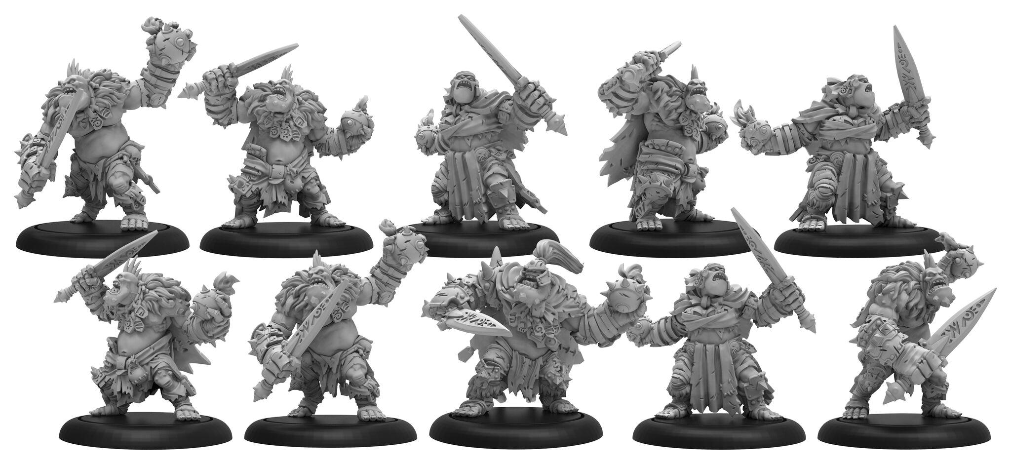 Hordes: Trollblood Northkin Raiders Unit Attachment (resin/metal) Box Front
