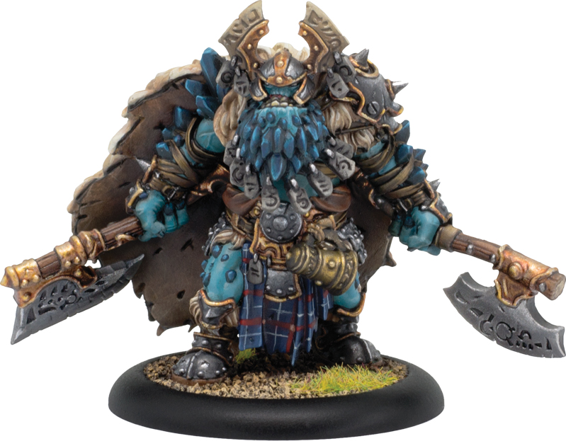 Hordes: Trollblood Valka Curseborn, Chieftain Of The North Solo (resin/metal) Box Front