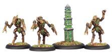 Hordes: Circle Orboros Sentry Stone And Mannikins Unit (white Metal) Box Front
