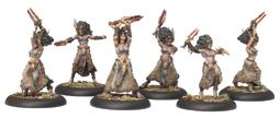 Hordes: Circle Orboros Tharn Bloodweavers Unit (white Metal) Box Front
